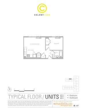 floorplan for 1209 Dekalb Avenue #211