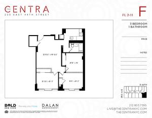 floorplan for 230 East 44th Street #8F