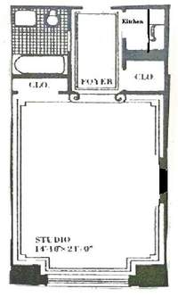 floorplan for 150 Central Park South #503