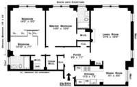 floorplan for 15 West 81st Street #3J