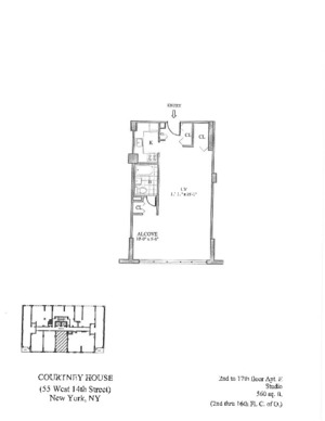 floorplan for 55 West 14th Street #14E