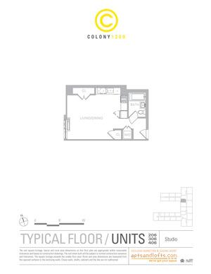 floorplan for 1209 Dekalb Avenue #206