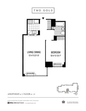 floorplan for 2 Gold Street #606