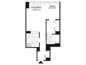 floorplan for 601 West 57th Street #33H