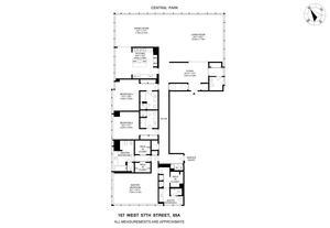 floorplan for 157 West 57th Street #65A