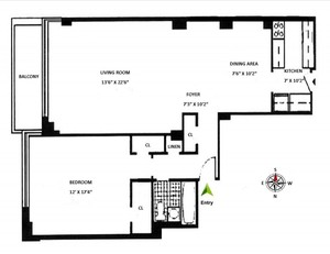 floorplan for 715 Park Avenue #2E