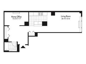 floorplan for 601 West 57th Street #6K
