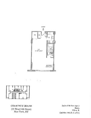 floorplan for 55 West 14th Street #5F