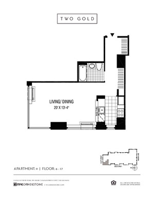floorplan for 2 Gold Street #1109