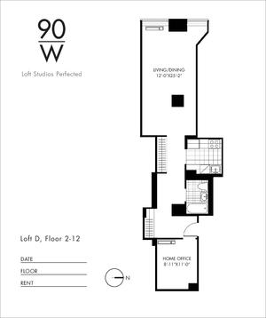 floorplan for 90 Washington Street #12D