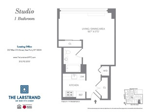 floorplan for 227 West 77th Street #12D