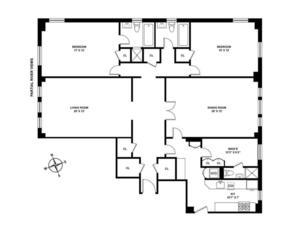 floorplan for 221 West 82nd Street #12G