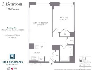 floorplan for 227 West 77th Street #10H