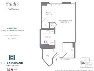 floorplan for 227 West 77th Street #3E