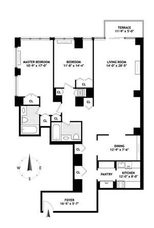 floorplan for 422 East 72nd Street #4A