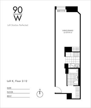 floorplan for 90 Washington Street #8K