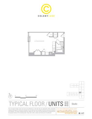 floorplan for 1209 Dekalb Avenue #213