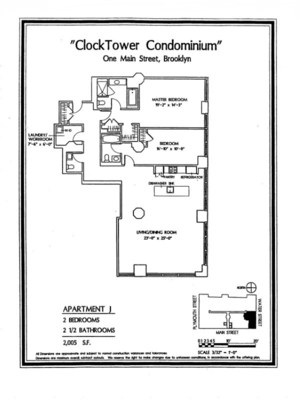 floorplan for 1 Main Street #9J