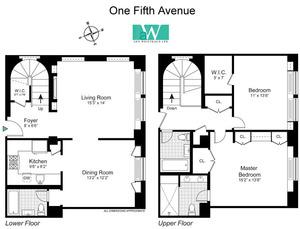 floorplan for 1 Fifth Avenue #1112C
