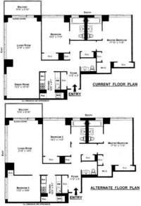 floorplan for 422 East 72nd Street #35C