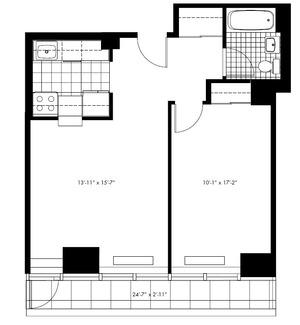 floorplan for 50 Murray Street #5019