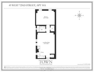 floorplan for 49 West 72nd Street #10A