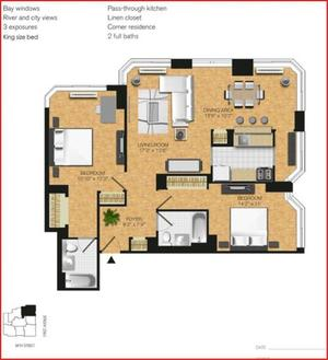 floorplan for 345 East 94th Street #24A