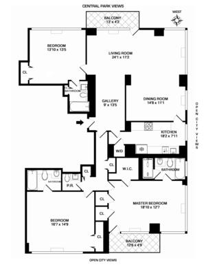 floorplan for 30 East 85th Street #19B