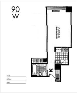 floorplan for 90 Washington Street #14K