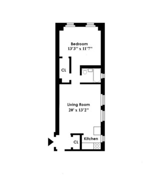 floorplan for 49 West 72nd Street #3B