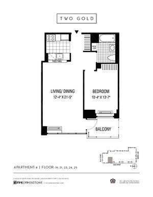 floorplan for 2 Gold Street #2408