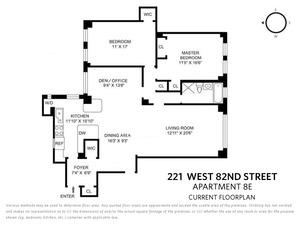 floorplan for 221 West 82nd Street #8E