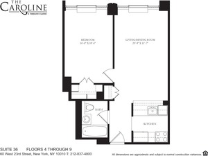 floorplan for 60 West 23rd Street #536