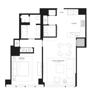 floorplan for 157 West 57th Street #37D