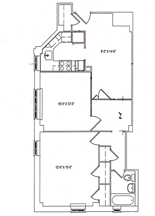 StreetEasy 610 East 20th Street in Stuyvesant TownPCV 8A Sales – Stuy Town 2 Bedroom Floor Plan