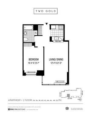 floorplan for 2 Gold Street #4807