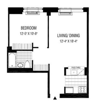 floorplan for 2 Gold Street #3013