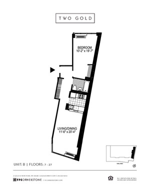 floorplan for 2 Gold Street #12B