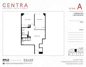 floorplan for 230 East 44th Street #8A