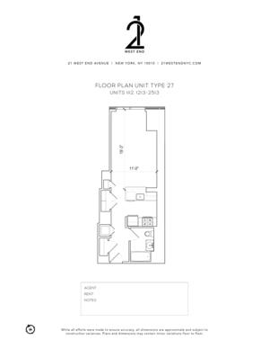 floorplan for 21 West End Avenue #1813