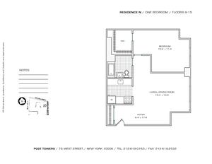 floorplan for 75 West Street #12N