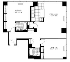floorplan for 50 Murray Street #1012