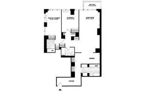floorplan for 422 East 72nd Street #6A
