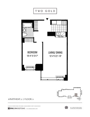 floorplan for 2 Gold Street #505