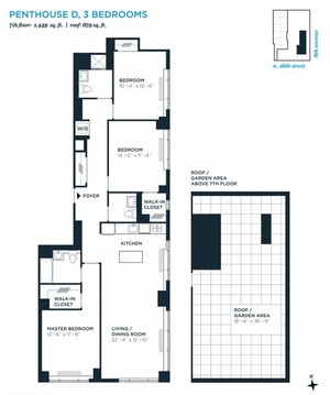 floorplan for 305 West 16th Street #PHD