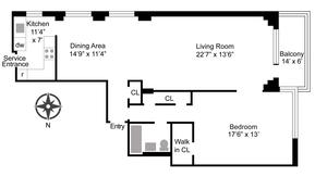 floorplan for 715 Park Avenue #10A