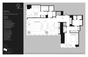 floorplan for 157 West 57th Street #38C
