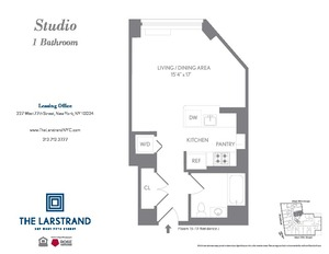 floorplan for 227 West 77th Street #16J