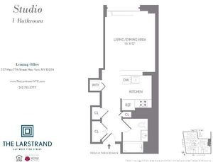 floorplan for 227 West 77th Street #4B