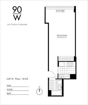 floorplan for 90 Washington Street #17H